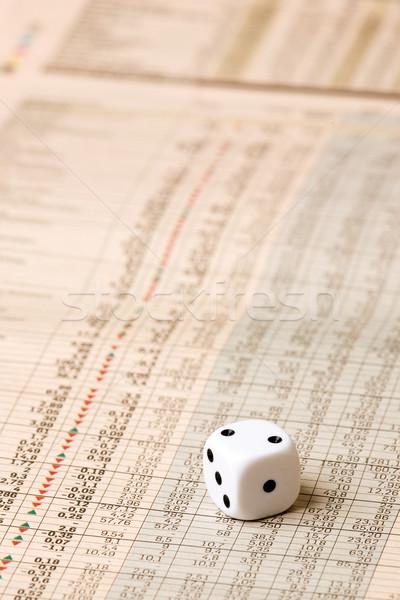 Dice and Stock Market Concept Stock photo © SimpleFoto