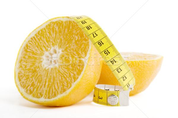 Naranja salud corte cinta métrica alimentos Foto stock © SimpleFoto