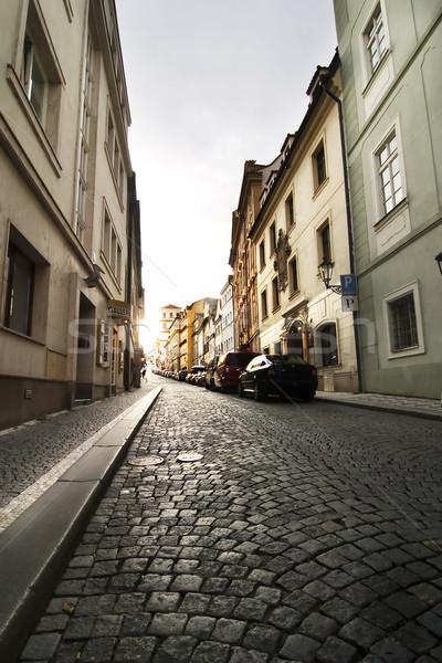 Pequeno rua Praga pormenor cidade velha Foto stock © SimpleFoto