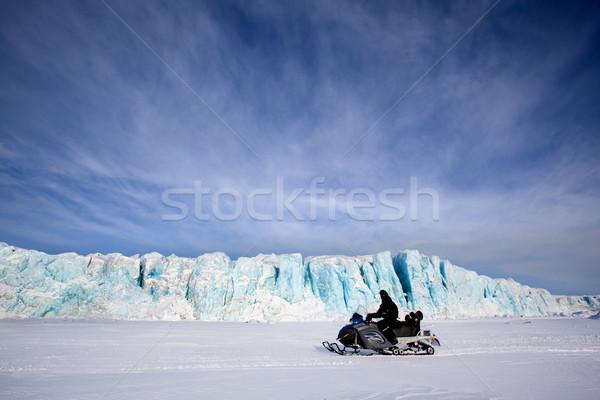 Glacier with Snowmobile Stock photo © SimpleFoto