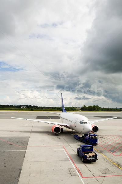 Airplane Airport Stock photo © SimpleFoto