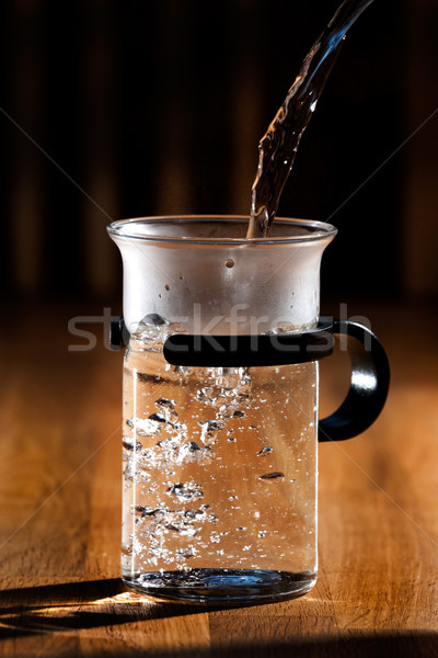 Heet water thee glas water sterke Stockfoto © SimpleFoto