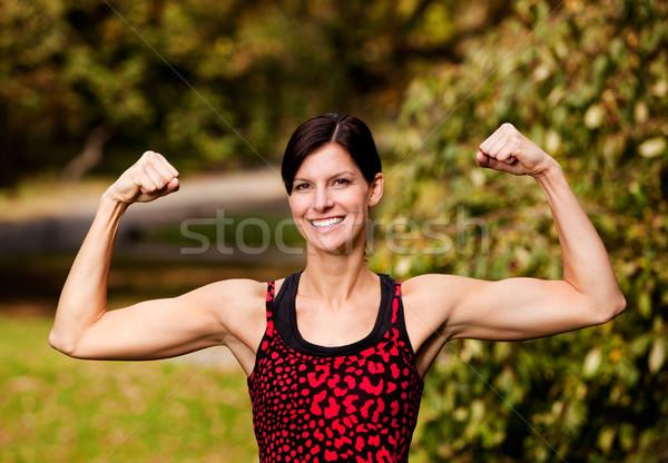 Zdjęcia stock: Fitness · kobiet · model · szczęśliwy · zdrowia · wykonywania