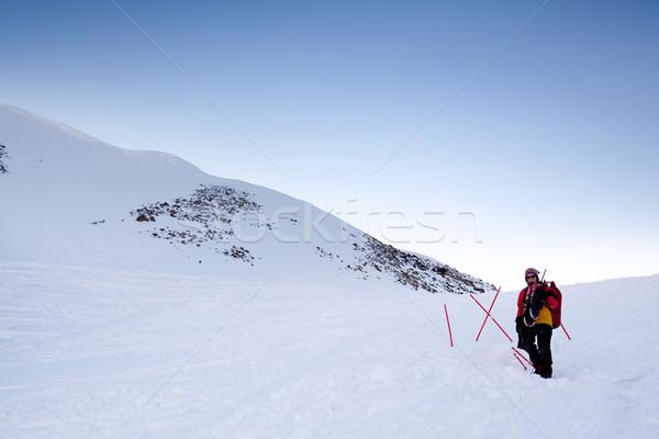 женщины авантюрист снега склон женщину природы Сток-фото © SimpleFoto