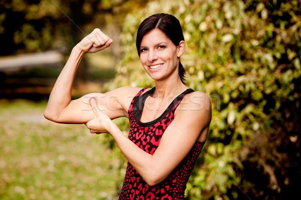 Muscle Woman Stock photo © SimpleFoto