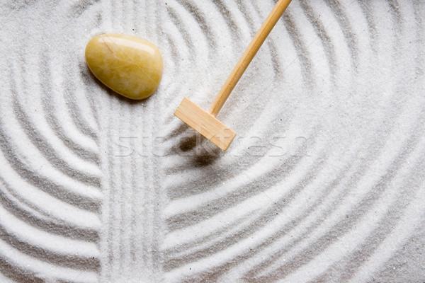 Gereblye kő kert zen tengerpart textúra Stock fotó © SimpleFoto