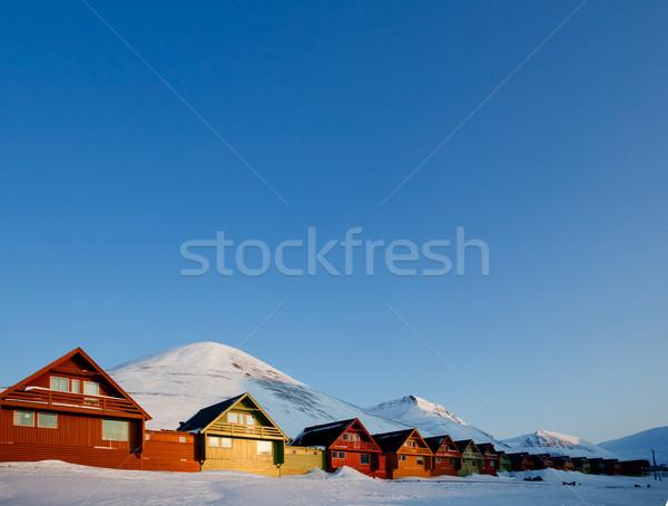 Longyearbyen Sunset Stock photo © SimpleFoto