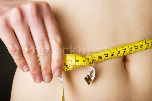 Cintura medida mujer salud femenino Foto stock © SimpleFoto
