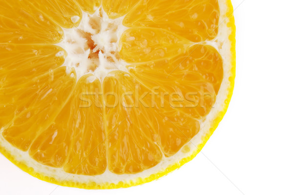 Rodaja de naranja detalle naranja mitad alimentos Foto stock © SimpleFoto