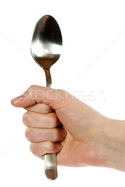 Kanál kéz női izolált fehér vágási körvonal Stock fotó © SimpleFoto