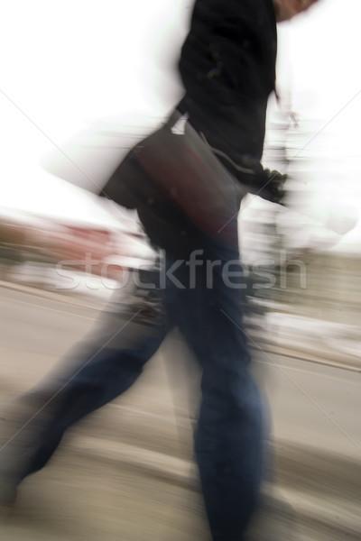 Tardi abstract persona piedi fretta Foto d'archivio © SimpleFoto
