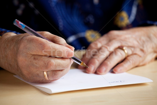 Writing a Letter Stock photo © SimpleFoto
