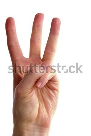 Three Fingers Stock photo © SimpleFoto