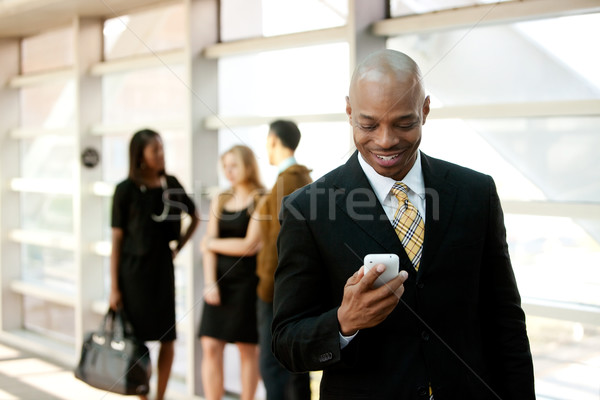 Foto stock: Homem · de · negócios · telefone · homem · móvel