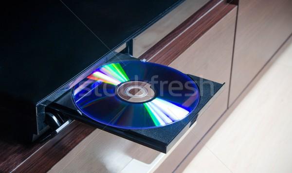 Schijf cd speler technologie software geluid Stockfoto © simpson33