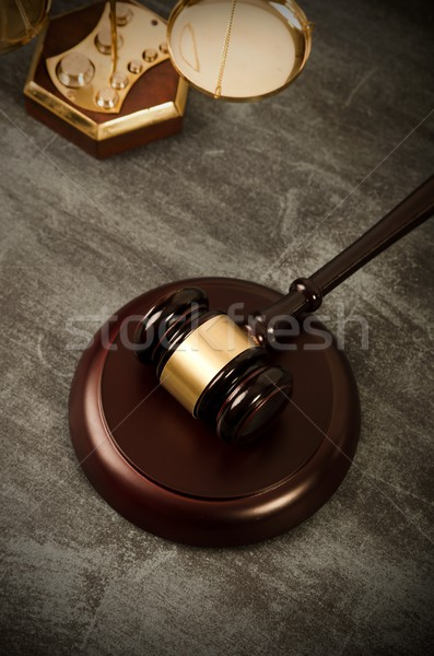 Justice and law composition Stock photo © simpson33
