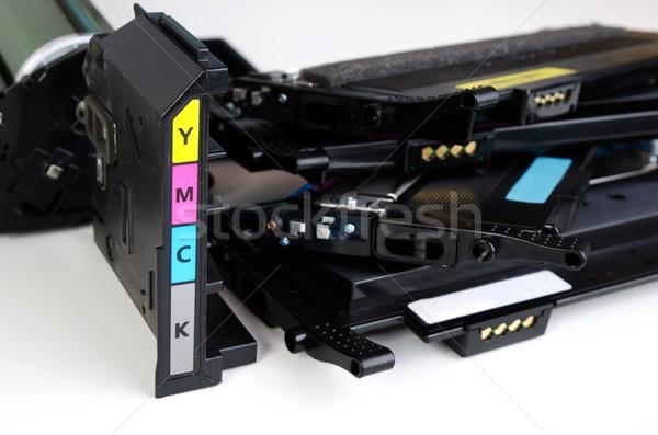 Patron szett lézer nyomtató fehér számítógép Stock fotó © simpson33