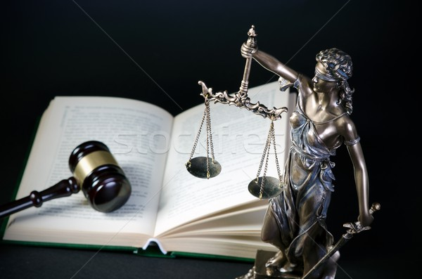 Law concept with Themis, symbol of justice Stock photo © simpson33