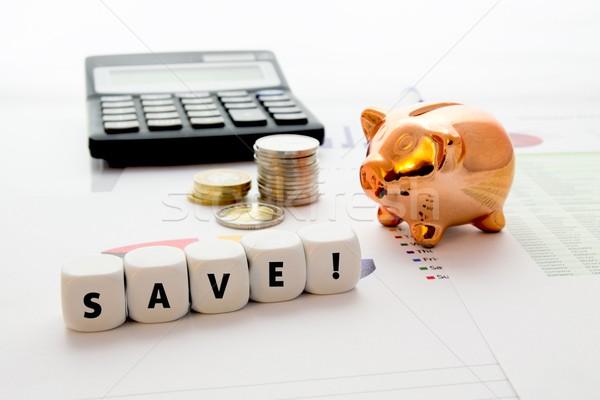 Spaargeld kleurrijk business uitvoerende succes grafiek Stockfoto © simpson33