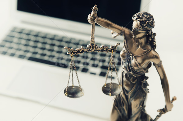 Justice and law concept in technology Stock photo © simpson33
