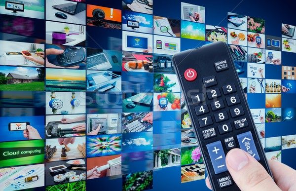 Television broadcast multimedia abstract composition Stock photo © simpson33