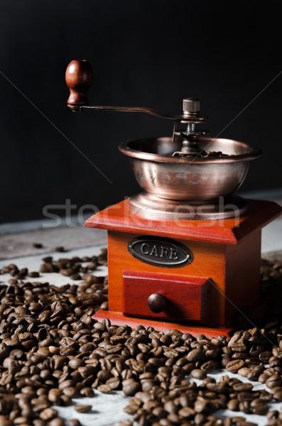古い レトロな コーヒー グラインダー 木製 コーヒー豆 ストックフォト © simpson33