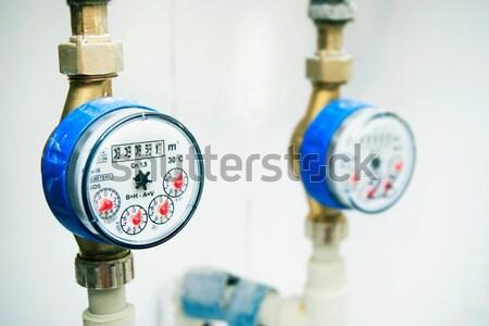 санитарный оборудование холодно синий красный горячей Сток-фото © simpson33