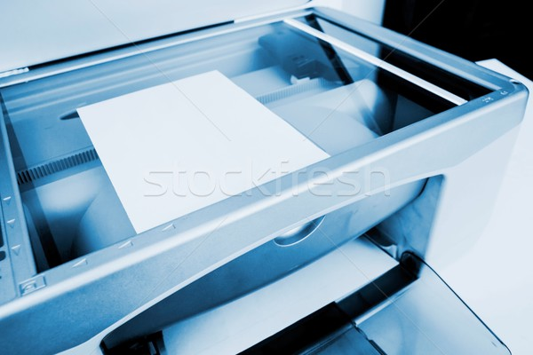 Close-up working printer scanner copier device Stock photo © simpson33
