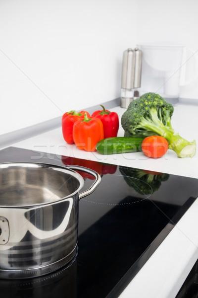 Edény zöldségek modern konyha tűzhely terv Stock fotó © simpson33