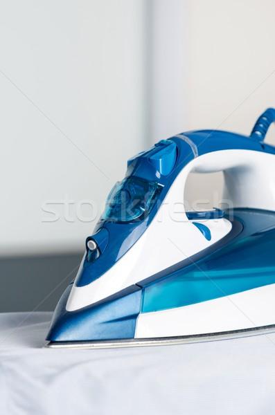 Moderna azul vapor hierro bordo Foto stock © simpson33