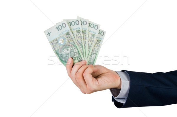 Gamme main argent monnaie isolé Photo stock © simpson33