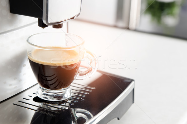 Maison professionnels espresso tasse cuisine Photo stock © simpson33