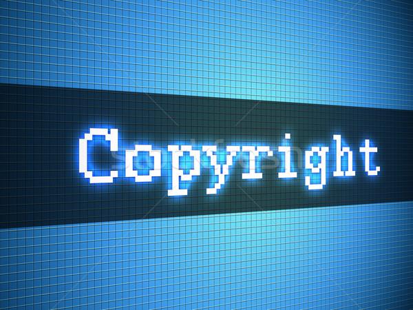 著作権 言葉 表示 モニター 法 デジタル ストックフォト © simpson33