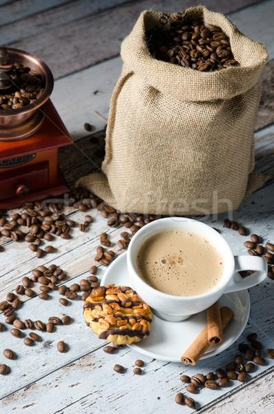Kawy fasola młyn słodycze Zdjęcia stock © simpson33