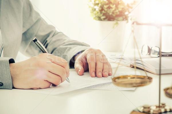 адвокат рабочих служба прав адвокат Весы Сток-фото © simpson33