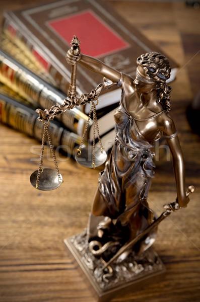 Droit livres tribunal bibliothèque livre bois Photo stock © simpson33