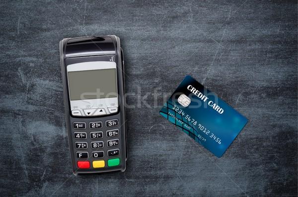 Paiement haut vue carte de crédit affaires Photo stock © simpson33