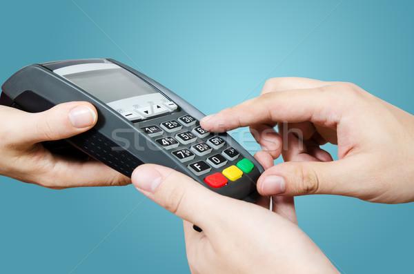 Credit card swipe through terminal for sale Stock photo © simpson33