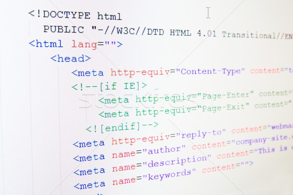 Code of HTML language on LCD screen Stock photo © simpson33