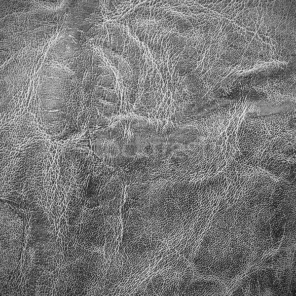 Fekete elnyűtt bőr textúra absztrakt terv Stock fotó © simpson33