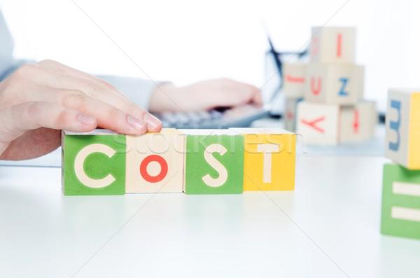 Сток-фото: стоить · слово · красочный · блоки · учета · бизнеса