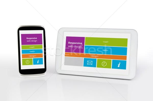 Stockfoto: Sympathiek · web · design · mobiele · telefoon