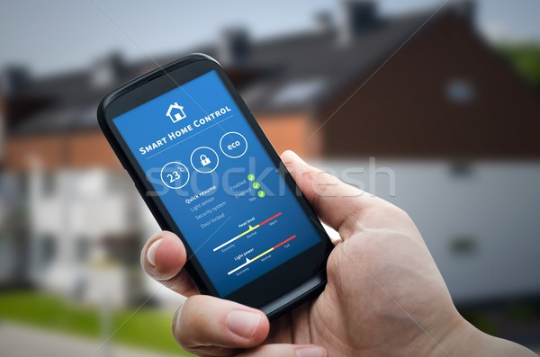 Smart home controle technologie afstandsbediening automatisering Stockfoto © simpson33