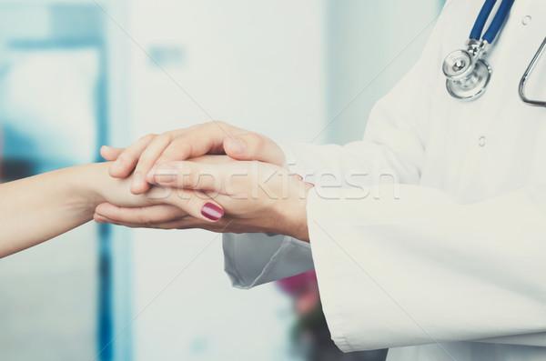 Arts patiënt hand gezondheidszorg Stockfoto © simpson33