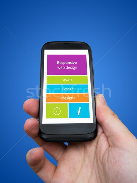 Responsive web design on mobile tablet and smart phone devices Stock photo © simpson33