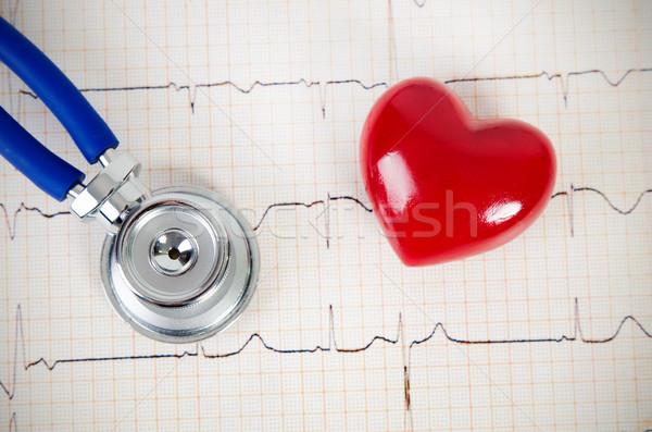 стетоскоп сердце 3D модель Сток-фото © simpson33