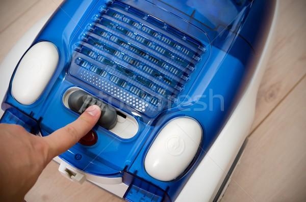 Kéz kapcsoló erő hatásfok porszívó energia Stock fotó © simpson33
