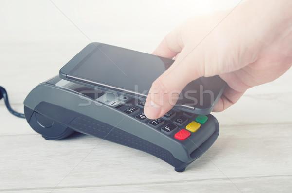 Móviles pago campo comunicación teléfono Foto stock © simpson33
