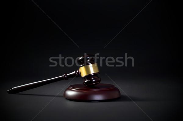 Zdjęcia stock: Prawa · młotek · wizytówkę · kopia · przestrzeń · prawa