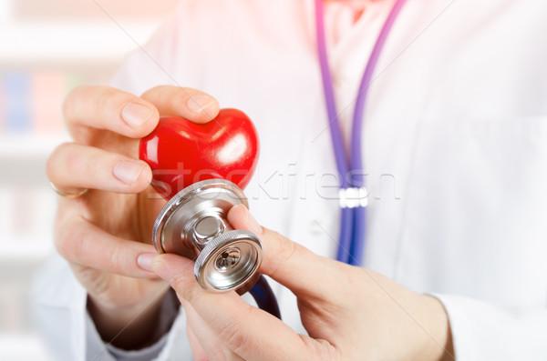 кардиолог сердце 3D модель медицина Сток-фото © simpson33